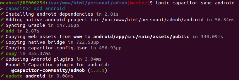 build ionic android